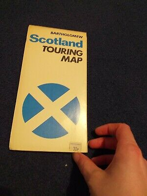Scotland Touring Map Bartholomew road map vintage 1973 collectable LOOK