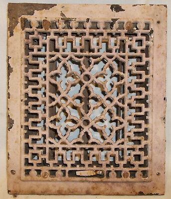 Antique Cast Iron Floor Grate Heating Vent Register Tuttle & Bailey Pat.1896