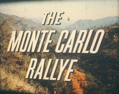 16mm MONTE CARLO RALLY 1963 Car Racing Movie Film Ford Motor Color Sound Rallye