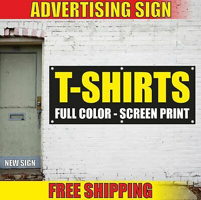 T-SHIRTS FULL COLOR SCREEN PRINT Advertising Banner Vinyl Mesh Decal Sign gift