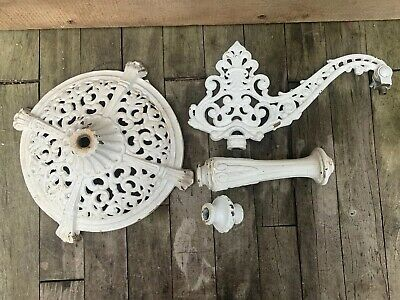 Vintage Cast Iron Ornate Floor Lamp/Light Parts Arm- Base-Spacers Restore