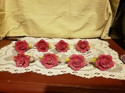 Royal Albert Old Country Roses Sculpted Napkin Rings set of 8