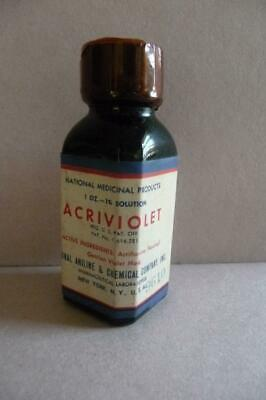 ACRIVIOLET PHARMACEUTICAL National Medicinal NATIONAL ANILINE & CHEMICAL CO