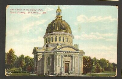 Unused Postcard Chapel of the United States Naval Academy Annapolis Maryland MD