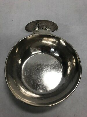 Vintage Sterling  Silver Porringer ladle The Kalo Shop 13139 hand wrought rabbit