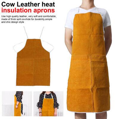 Protective Gear Apron Welding  Cow Leather Aprons Heat Insulation Protection
