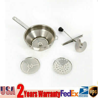 1.9L Stainless Steel Food Mill Vegetable Mill 3 Milling Discs Rice Mixer Grinder