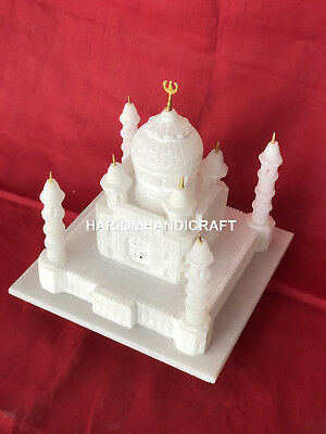 """12"""" White MMarble Unique Handcarving Tajmahal Home Decoratives For Gifts  H5750C"""
