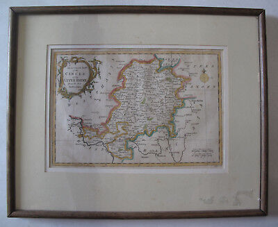 German Accurate Map CIrcle Upper Rhine G. Rollos Germany Frankfort Nassaw 1766