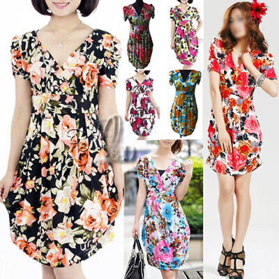 AU SELLER WHOLESALE BULK LOT OF 10 MIXED STYLE Floral Dress Beach Cover Up dr135