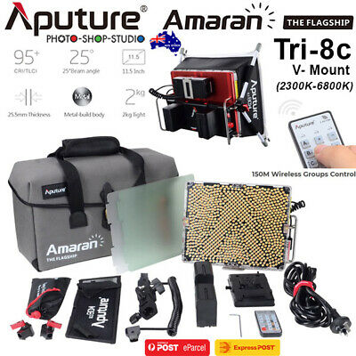 AU*Aputure Tri-8c Amaran 600W Bi-Color Video LED Light with V-Mount Battery Plat