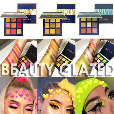 9 Colors Matte Shimmer Neon Glitter Eyeshadow Nude Eye Shadow Palette Powder
