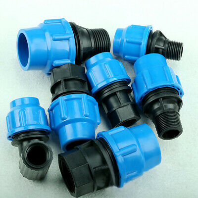 Mdpe Pushfit Connector. Blue Mains Water To Household Pushfit