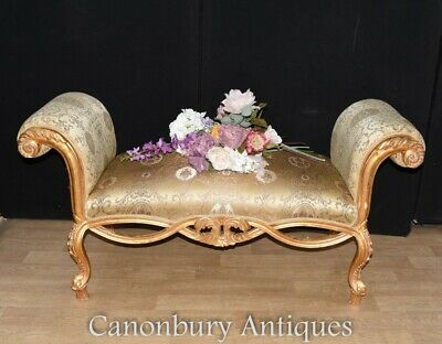 French Empire Gilt Stool - Chaise Longue Couch