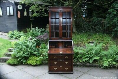 A Titchmarsh And Goodwin Bureau Bookcase Office Desk Writing Table Laptop Stand