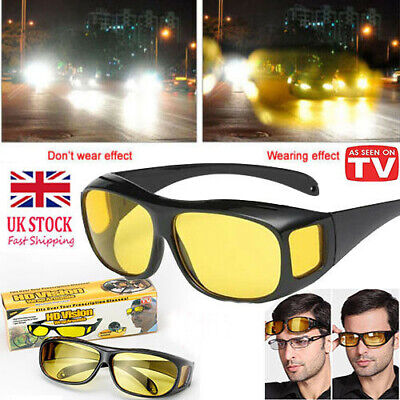 Polar-Tech --Night Vision HD Driving Glasses Polarized Yellow Lens Tinted Unisex