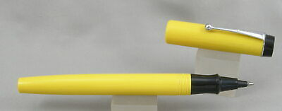 Parker Big Red AD Pen Yellow & Chrome Ballpoint/Rollerball Pen - Mint NOS 1970's