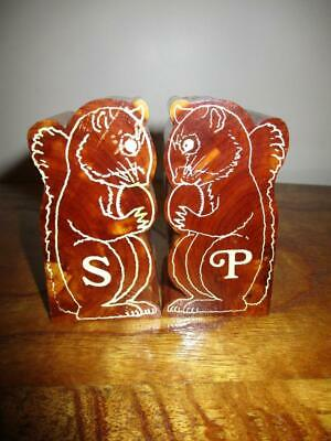Wooden Squirrel SALT & PEPPER Shakers SOUVENIR Grand Canyon National Park