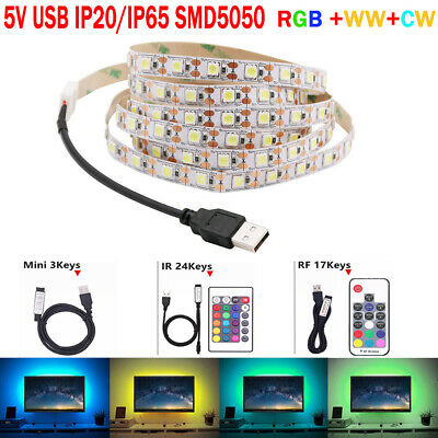 0.5M-5M IP65 Bande Ruban LED Strip Flexible RGB SMD5050 Guirlande + Télécommande