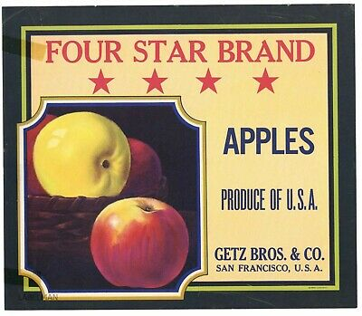 **AN ORIGINAL PEAR CRATE LABEL** D/'Anjou Pears Connell Bros MORJON Brand