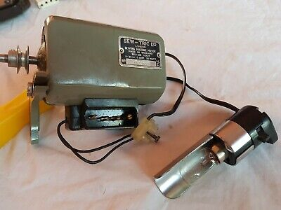 Alfa Royale Sewing Machine Electric motor and lamp. 4 round pins. Sew-Tric