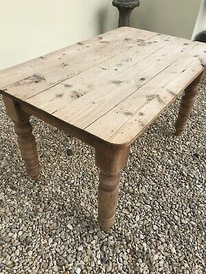 Antique Pine Country Kitchen Table / Rustic / Farmhouse