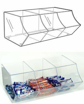 PM9710 - Pick & Mix Dispenser For Wrapped Sweets: 3 Section - 495mm (W) x 200mm