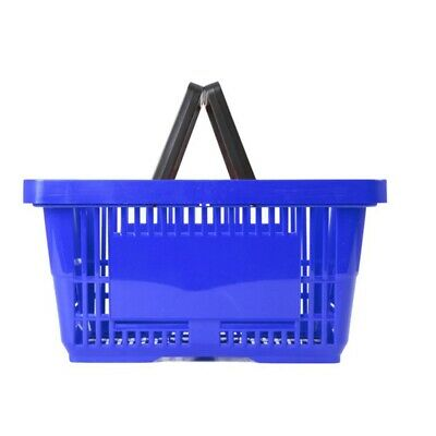 Shopping Basket 22Ltr - Plastic - Blue - Double Handle