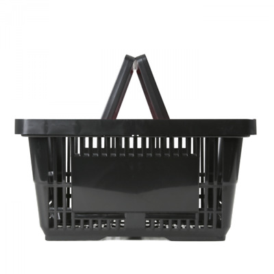 Shopping Basket 22Ltr - Recycled Plastic - Black - Double Handle