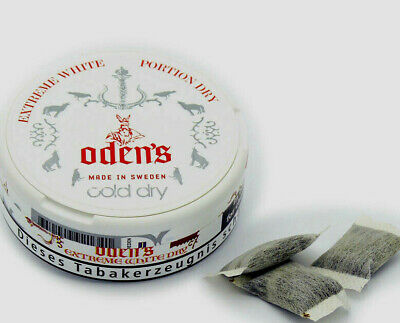Snus Odens Cold Dry Extreme White/Chewing Bags  5 Dosen
