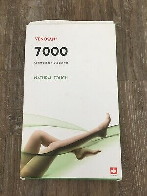 Venosan Natural Touch Compression Stockings Beige Womens Size Medium Long Bnwt