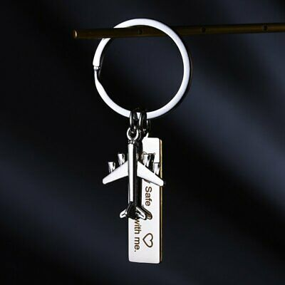 Stainless Steel Fly Safe, I need you here with me Keychain Key Chain Keyring New