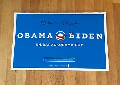 Joe Biden Autograph Signed Official Obama '08 President Campaign Yard Sign 14x22