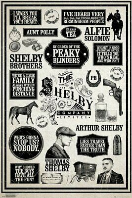 Peaky Blinders Don/'t Mess With Maxi Poster Print 61x91.5cm24x36 inches