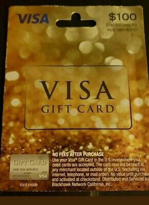$100 GIFT CARD ACTIVATED No Fees After Purchase. Non Reloadable. Honest Seller