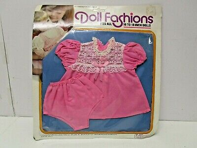 """Vintage Shillman Doll Clothes Pink Dress Outfit for 18"""" Dolls  MIP"""