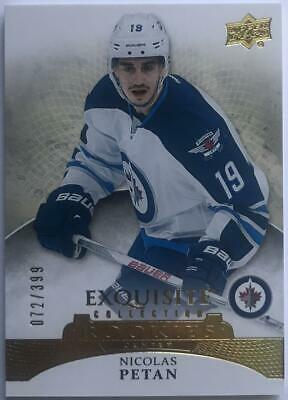 (HCW) 2015-16 UD Exquisite Collection Rookies Nicolas Petan 72/399 RC 07621