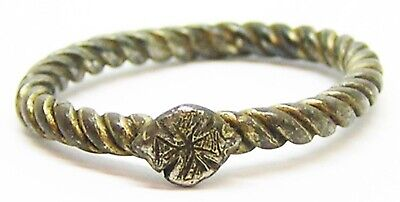 10th - 11th century AD Anglo Scandinavian Viking Silver-gilt Finger Ring Size 11