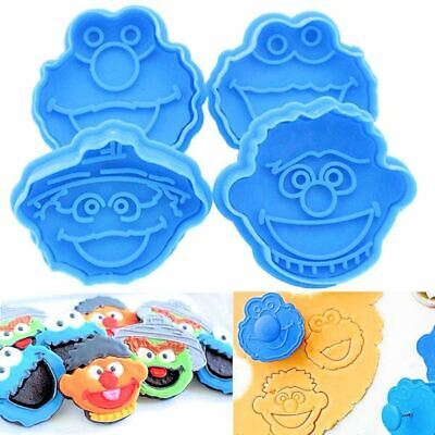 Sesame Street Group Plunger Cookie Cutter 4 pc Set