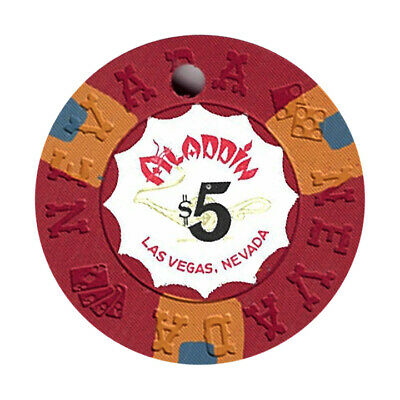 (1) Aladdin Casino Las Vegas NV $5 Cancelled Chip Nevada Mold *