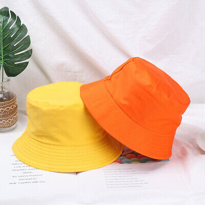 Unisex Adults Child Cotton Bucket Hat Summer Fisherman Cap Sun Caps New Fashion.