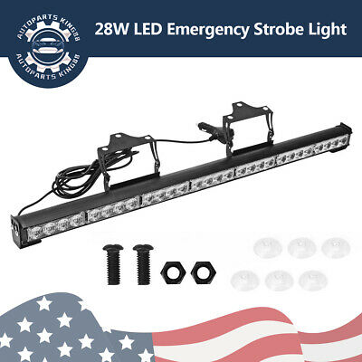 "31"" 28 LED Emergency Flash Strobe LED Light Bar Traffic Advisor- Amber 12-24v"