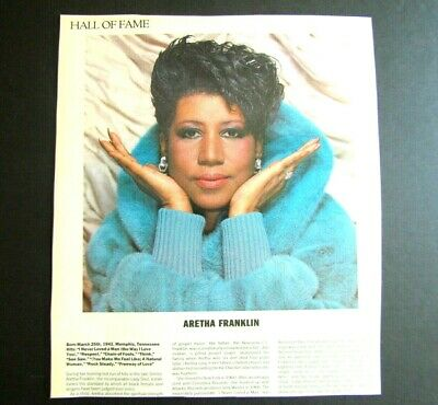 1987 Magazine Clipping ARETHA FRANKLIN - Queen Of Soul