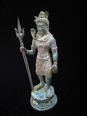 Shiva Lord Of Dance Creator Trident Weapon Statue God Meditation yoga Art