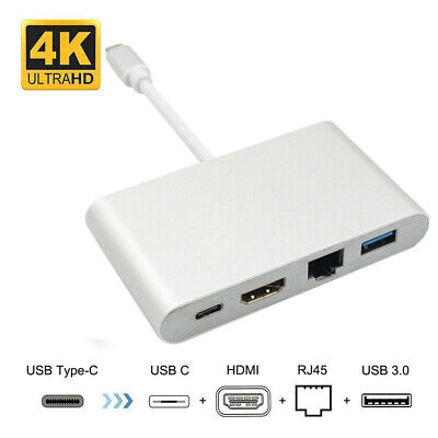 4 In 1 Mini Display Port DP Thunderbolt to DVI VGA HDMI Adapter RJ45 Cable