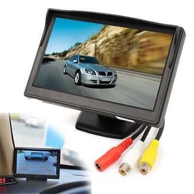 "5""TFT LCD Car Rear View Backup Monitor+Wireless Parking Night Vision Camera Kit"