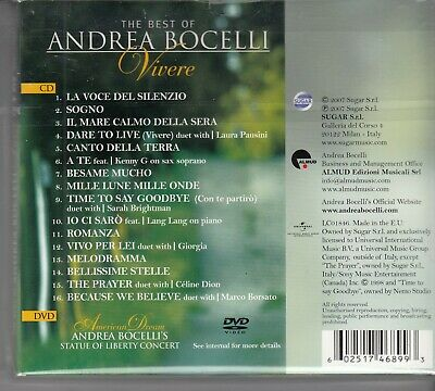 ANDREA BOCELLI Vivere The Best Of DELUXE EDITION CD & DVD DIGIPACK new  holland
