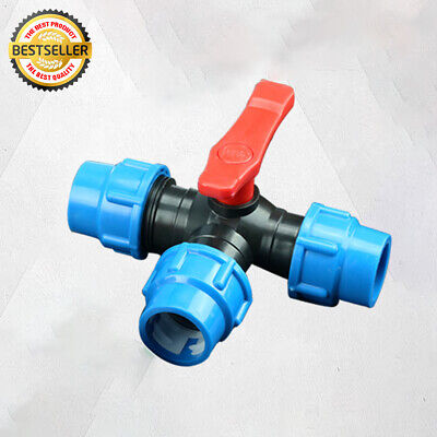 MDPE Plastic Compression Tee Fitting, Water Pipe Tee 20MM 25MM 32MM 40MM 50MM