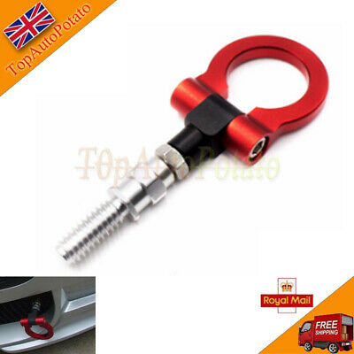 1X Racing Tow Towing Hook Car Auto Trailer Ring For Universal BMW European RED