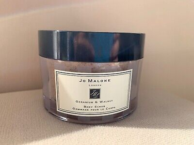 Jo Malone Geranium & Walnut Body Scrub 200 Ml New